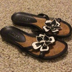 Black and white sandals by Liz Claiborne in EUC